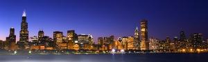 IL chicago night skyline
