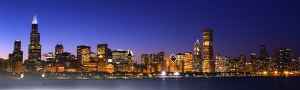 IL chicago night skyline
